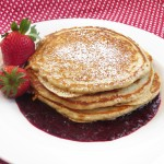 ... Whole Wheat Pancakes with Strawberry Sauce Maple Quinoa Breakfast Bowl