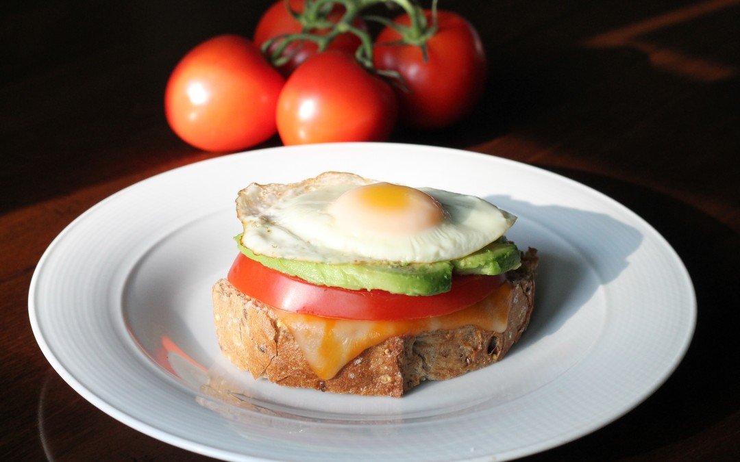 Fried Egg, Avocado and Tomato Sandwich