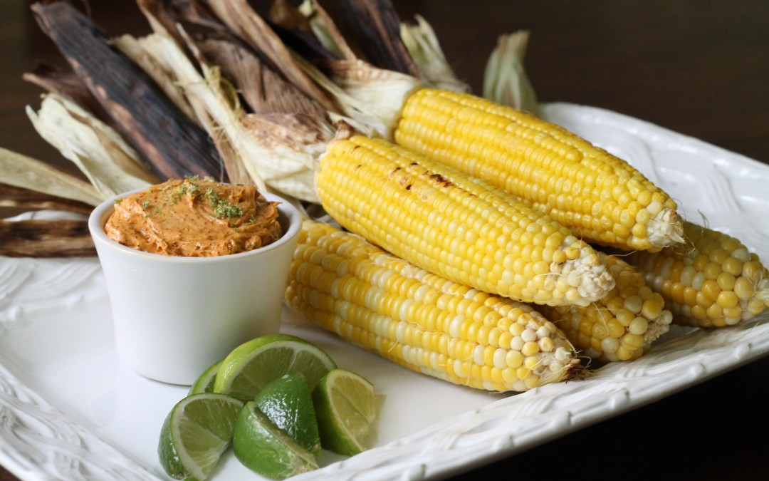 Summer Sweet Corn with Chili-Lime Butter