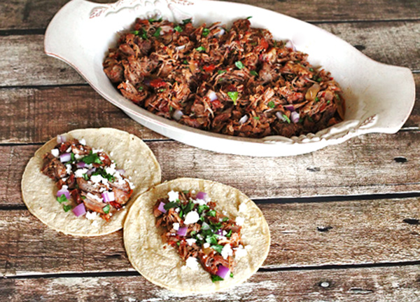 Shredded Chipotle Pork Tacos