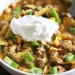 Turkey Chili with Tomatillo Salsa