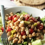 Mediterranean Chickpea and Feta Salad