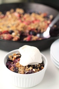 Blueberry-Strawberry-Rhubarb-Skillet-Crisp