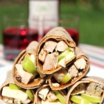 Grilled Chicken Wraps with Apple and Brie