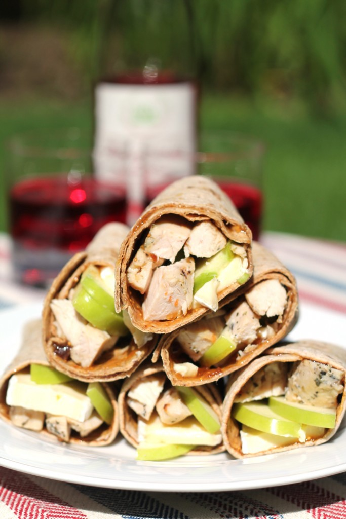 Chicken-Fig-Brie-Wraps