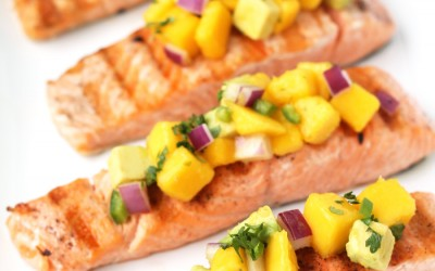 Grilled Salmon with Spicy Mango Salsa
