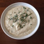 Herbed White Bean Dip with Pita Chips