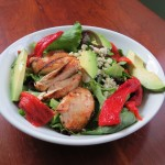 Grilled Chicken Salad with Roasted Peppers, Avocado and Blue Cheese