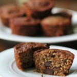 Whole Wheat Banana Chocolate Chunk Muffins