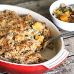 Cheesy Baked Penne with Butternut Squash and Italian Turkey Sausage