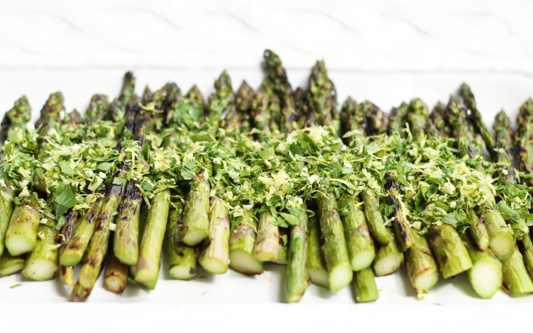 Grilled Asparagus with Gremolata