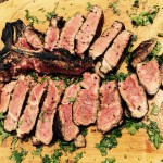 Grilled Steaks with Rosemary-Garlic Butter